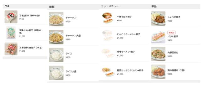 商品一覧画像